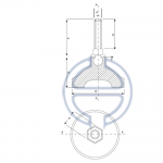 Profil Ayak Oynar Baş Komple Metal Saplama