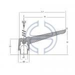 Sustalı Kol Metal Statik Boyalı Burçlu